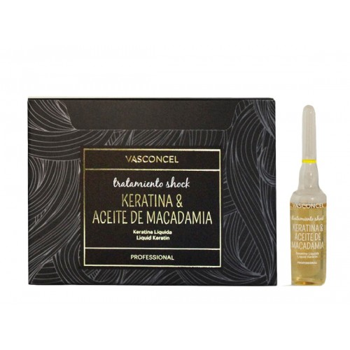 Tratamiento Shock Macadamia y Keratina 6x10ml Vasconcel